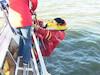 Test von verschiedenen Rettungssystemen für Yachten
