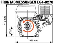 Rotek EG4-0270 - Frontabmessungen