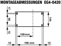 Rotek EG4-0420 - Abmessungen Grundplatte