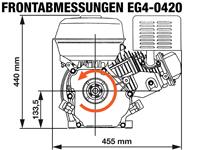 Rotek EG4-0420 - Frontabmessungen