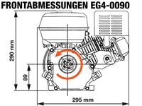 EG4-0090-H Frontabmessungen