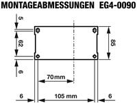 EG4-0090-H Abmessungen Montageplatte