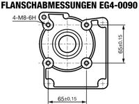 EG4-0090-H Flanschabmessungen
