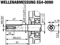EG4-0090-H Abmessungen Kurbelwelle