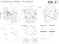 Y495ZPG TD495ZPG Abmessungen