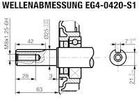 Rotek EG4-0420 - Wellenabmessung