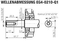EG4-0210-5H Wellenabmessungen