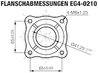 EG4-0210-5H Flanschabmessungen