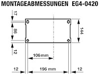 EG4-0420-5 Abmessungen Bodenplatte