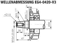 EG4-0420-5 Wellenabmessungen
