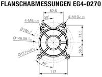 ROTEK luftgekühlter 1-Zylinder 4-Takt 270ccm Benzinmotor, EG4-0270-5H-S2
