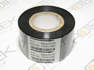Thermotransfer Farbband, B=30mm, L=50m, für diverse Codiereinheiten