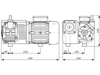 Vakuumpumpe mit 0,9 kW Leistung, PM-VP-20, Abmessungen