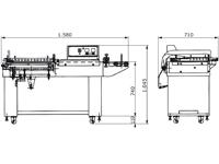 Semiautomatisches Winkelschweissgerät mit Förderband, PM-FSW-5545F, Abmessungen