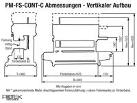 PM-FS-CONT-C Vertikale Ausführung - Abmessungen