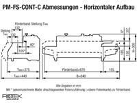 PM-FS-CONT-C Horizontale Ausführung - Abmessungen
