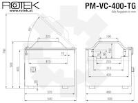 PM-VC-400 Abmessungen