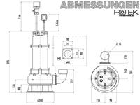WPET-TCH-01.5kW-400 Abmessungen