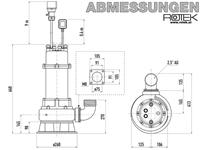 WPET-TCM-03.0kW-400 Abmessungen