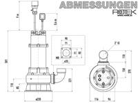 WPET-TSH-01.5kW-400 Abmessungen