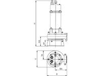 Masszeichnung Tauchpumpe 7,5kW mit Schredder