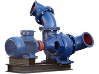 Mixed Flow Pumpe WPEI-004kW-150HW5, Rückseite schräg