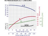 IS125-100-400 - Pumpenkennlinie