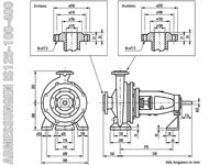 IS125-100-400 - Abmessungen
