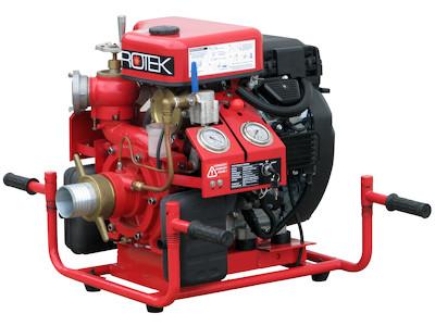 Tragkraftspritze mit Ansaugpumpe und 2-Zyl. Benzinmotor, WPG4-2V-1800-65-EB, Frontansicht schräg