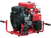 Tragkraftspritze mit Ansaugpumpe und 2-Zyl. Benzinmotor, WPG4-2V-1800-65-EB, Rückseite, schräg