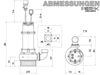 WPET-TCH-01.5kW-400-SK Abmessungen