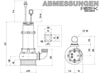 WPET-TCM-01.5kW-230-SK Abmessungen