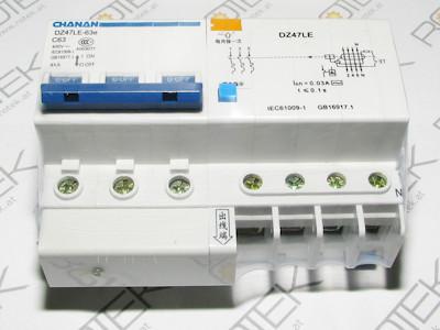 FI / LS Kombi Schutzschalter -  63A Leitungsschutzschalter / 30mA Fehlerstromschutzschalter