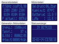 ECU-RTG3 Standardbildschirme