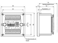 Elektronische Motorsteuereinheit RTG3s Abmessungen