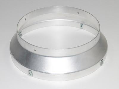 Ersatzteil Abgangsflansch zu Ölheizer Indirektheizer 30kW HOI-30-BG - Aluminium