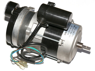 Lüftermotor mit Kompressor passend zu BGO 50, HO-50kW Ölheizkanonen mit Venturisystem, mit Manometer