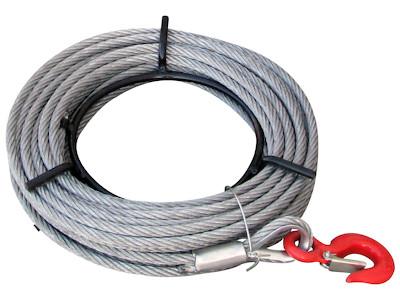 Stahlseil 11mm - 20m Länge - auf Handhaspel - Ersatzseil für SZ-Seilzug 1600kg