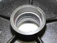 Lenkrolle, Laufrolle mit PU Polyurethan Lauffläche, 200x50mm