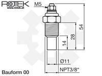 Abmessungen Kühlmittelsensor NPT3/8