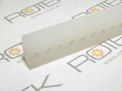 Silikon Andruckstreifen für Vakuumsealer Vakuumversiegelung 409x12x17mm gelocht
