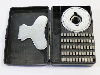 Prägebuchstaben, Segmenttypensatz, Messing, für Continuouse Sealer, incl. Typenrad