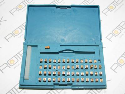 Prägebuchstaben, Segmenttypensatz, Messing, für Thermotransfer Coding