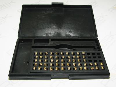 Segmenttypensatz 0-9, A-Z