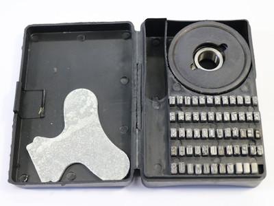 Prägebuchstaben, Segmenttypensatz, für Continuouse Sealer, incl. Typenrad  - Buchstaben erhaben