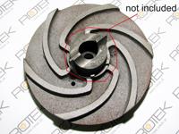 Impeller / Pumpenrad zu Tauchpumpe Schredder 1.5kW - der Schneidring ist NICHT enthalten