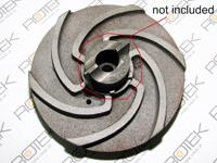 Impeller / Pumpenrad zu Tauchpumpe Schredder 7,5 kW - der Schneidring ist NICHT enthalten