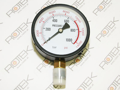 Manometer bis 1000 Bar für Werkstattpressen (MP) und andere Hydraulische Geräte - Anschluss unten