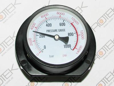 Manometer bis 1000 Bar für Werkstattpressen (MPV) und andere Hydraulische Geräte - Anschluss hinten