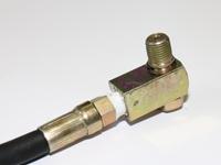 Pneumatikschlauch mit Absperrventil passend zu Hydraulikpumpen bis 700 Bar für Werkstattpressen mit Druckluftantrieb (20T/30T/50T)